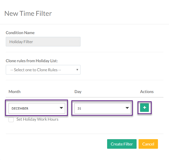 Figure 07 New Time Filter Pop-up: Add Dates