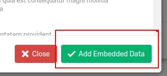 'Add Embedded Data' button highlighted.