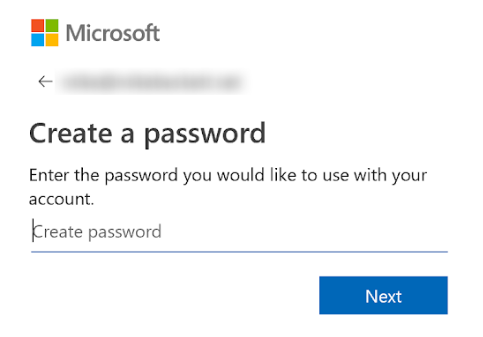 Microsoft Password Box