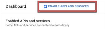 Enable APIs