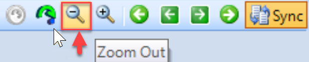 DW Sentry toolbar Zoom Out