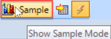 DB Sentry Sample Mode toolbar button