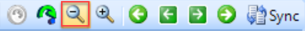 DB Sentry Zoom Out toolbar button