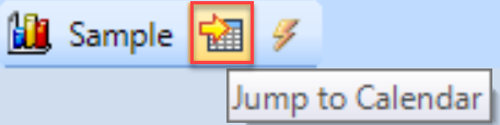 DB Sentry Jump To Calendar toolbar button