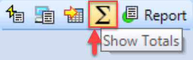 SentryOne Show Totals toolbar button