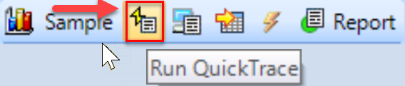 SentryOne Run QuickTrace toolbar button