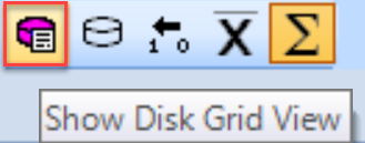 SentryOne Show Disk Grid View toolbar button