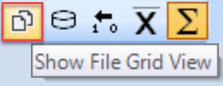 SentryOne Show File Grid View toolbar button