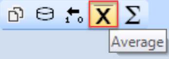 SentryOne Average toolbar button