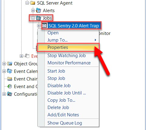 Viewing SentryOne SQL Server Event Objects Properties