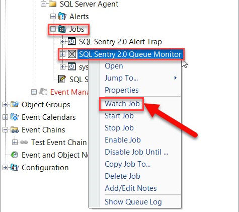 Watching SentryOne SQL Server Event Object
