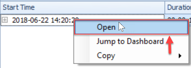 SentryOne QuickTraces tab Open QuickTrace context menu