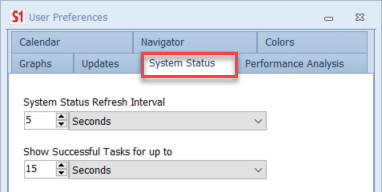 SentryOne System Status Settings