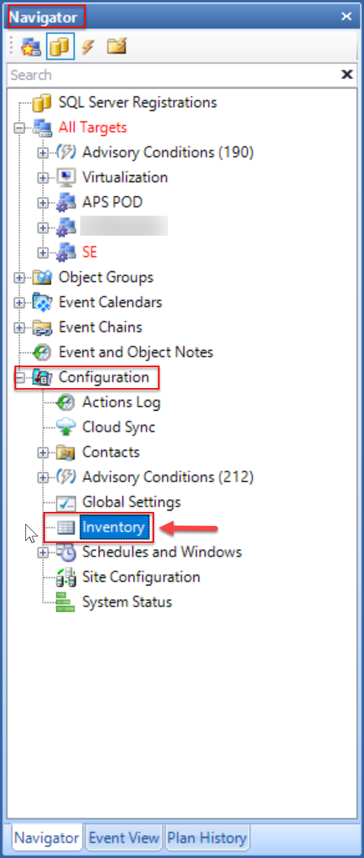 SentryOne Inventory Node