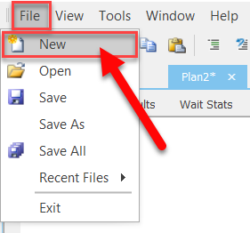 SentryOne New Plan Explorer File Menu
