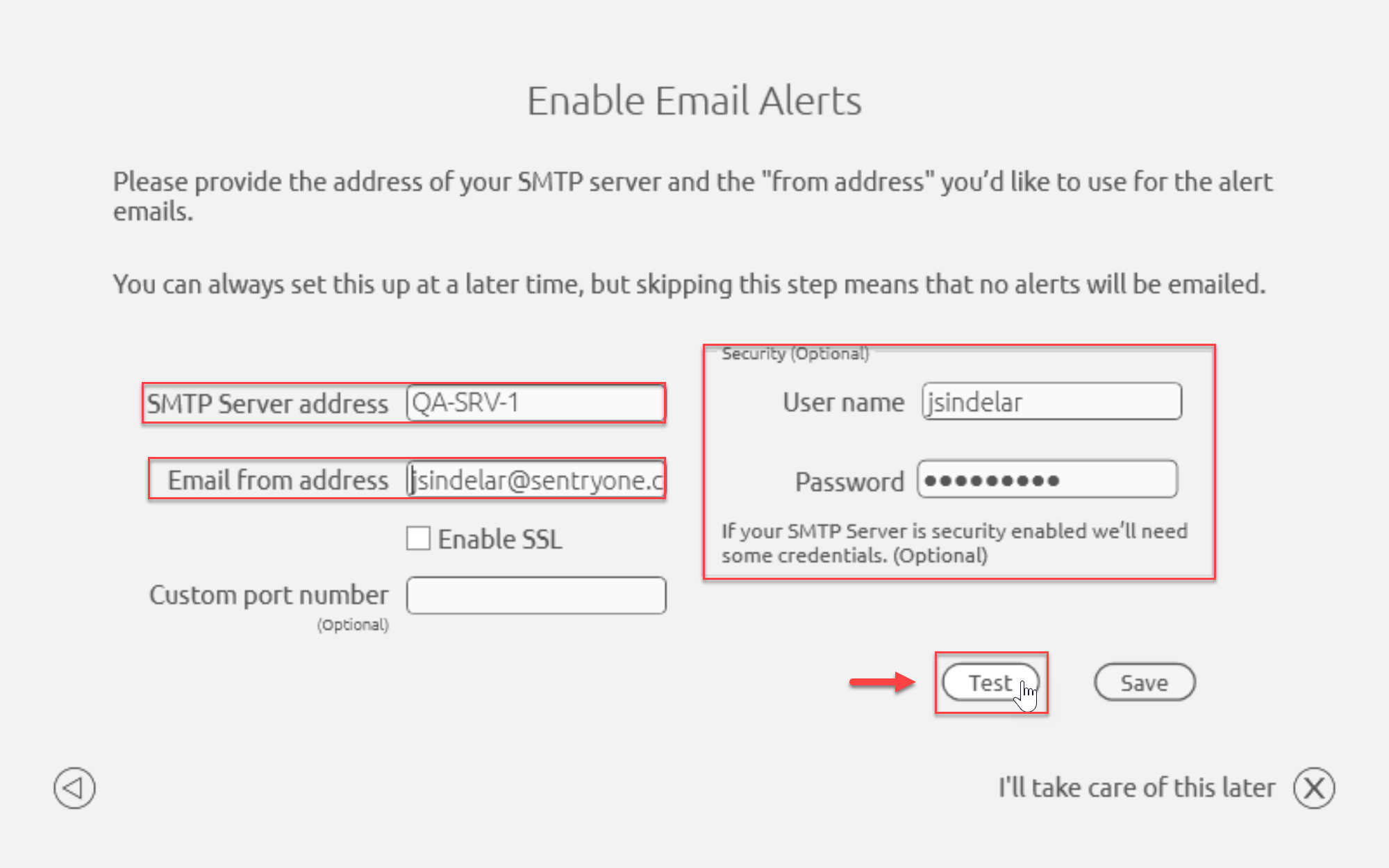 SentryOne On-boarding Enable Email Alerts