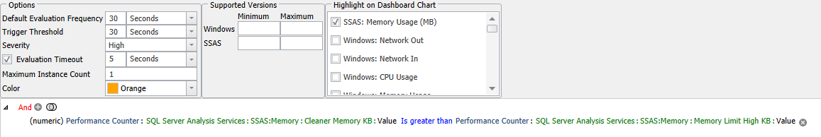 SentryOne SSAS High Memory Limit Exceeded