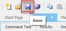 SentryOne Save Toolbar