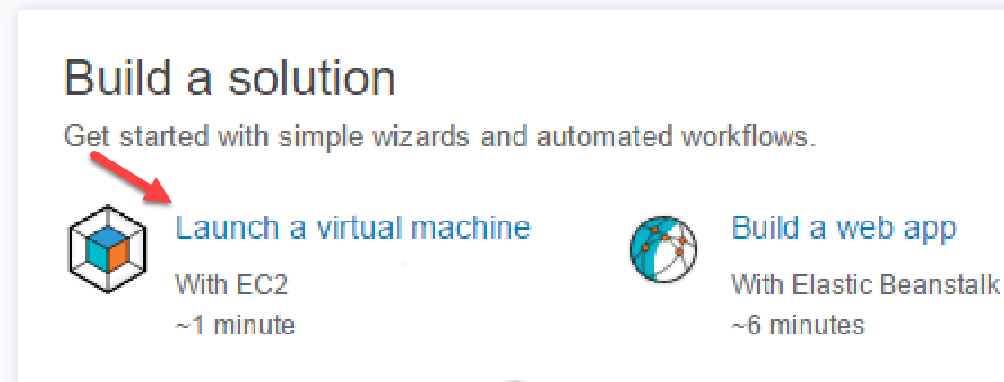 EC2 Launch a virtual machine