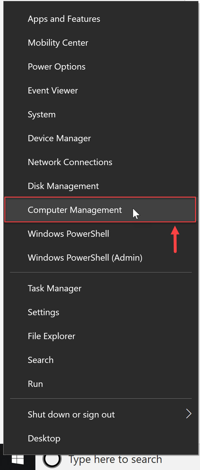 Windows Computer Management