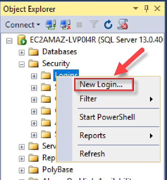 Add sysadmin for SQL Server Instance