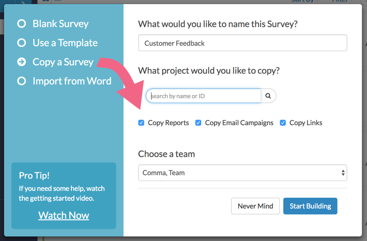 Copy Reports, Campaigns, and Links