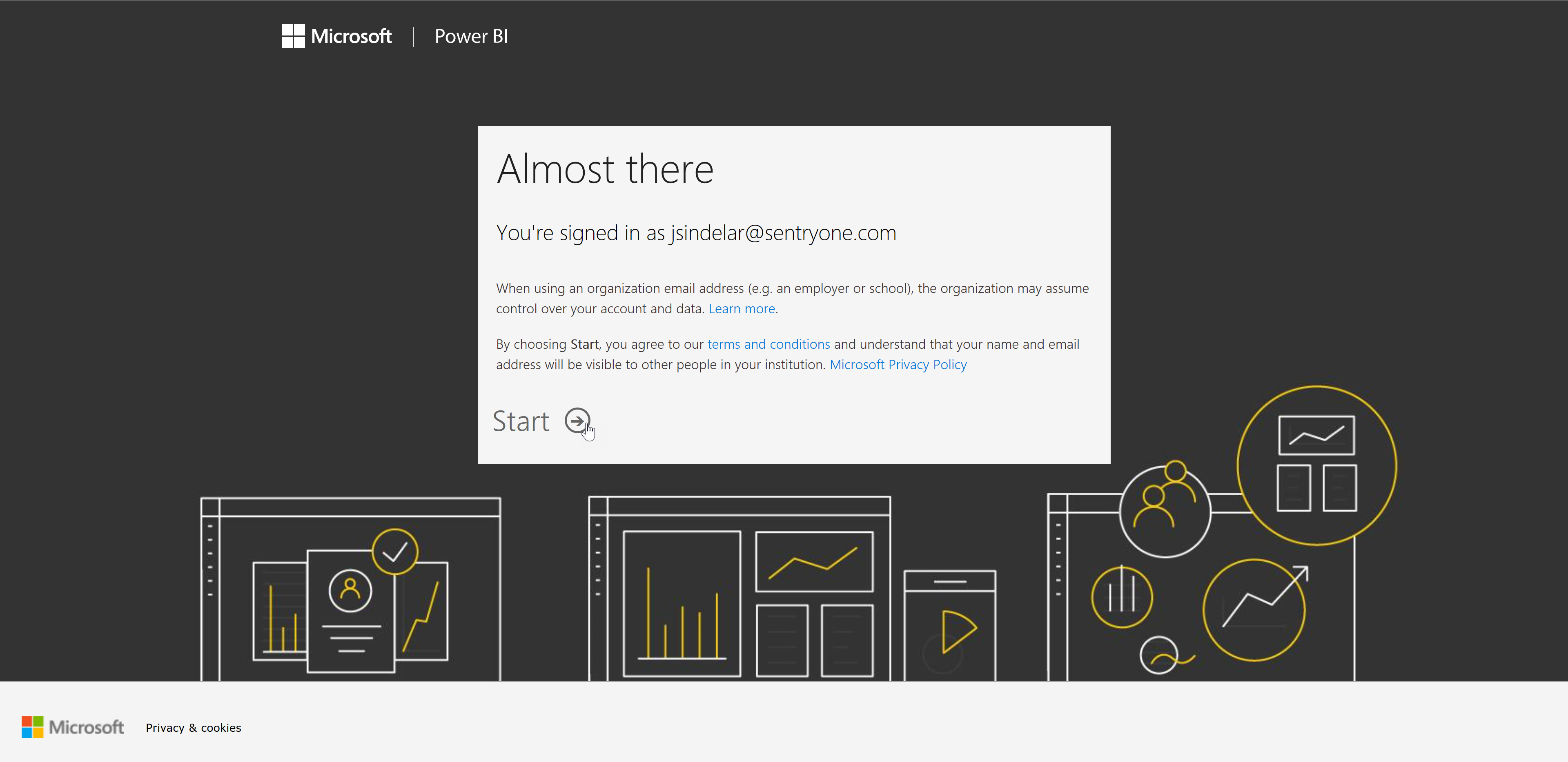 Log into your Power BI account