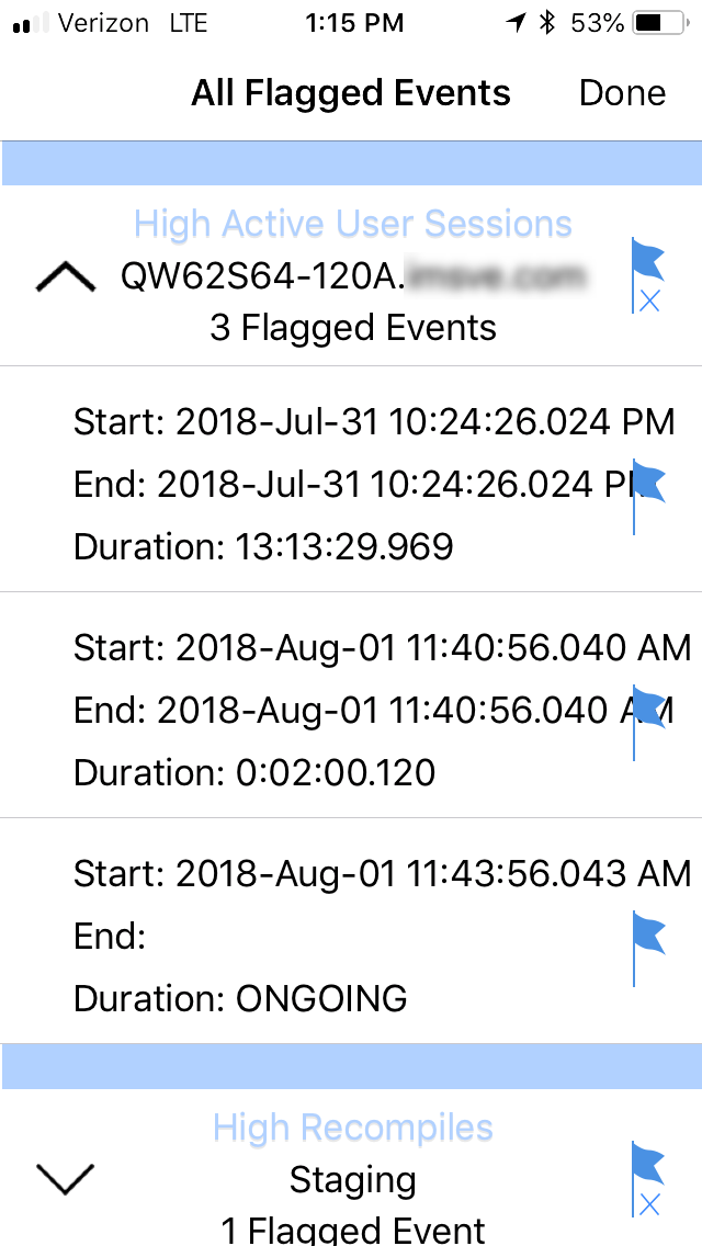 SentryOne All Flagged Events