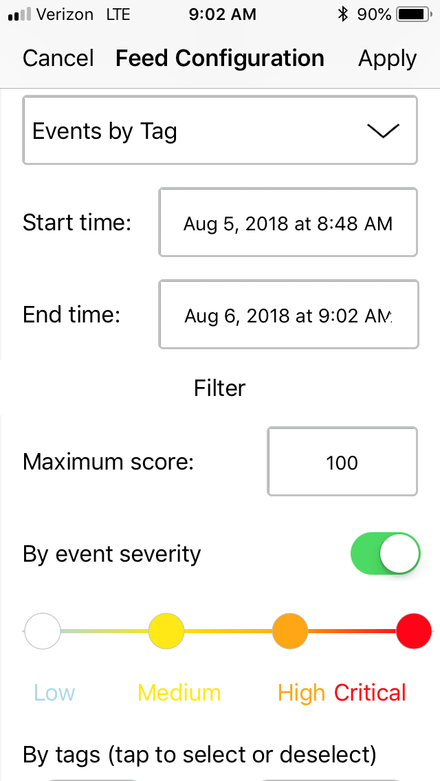 SentryOne Events by Tag Filter