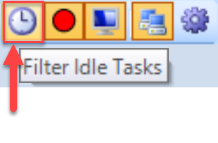 SentryOne System Status toolbar Filter Idle Tasks