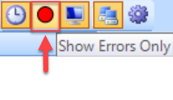 SentryOne System Status toolbar Show Errors Only
