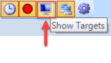 SentryOne System Status toolbar Show Targets