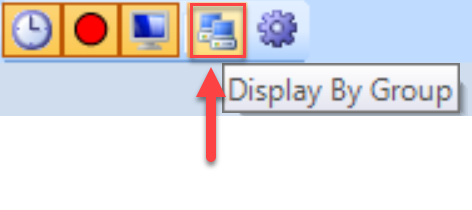 SentryOne System Status toolbar Display By Group