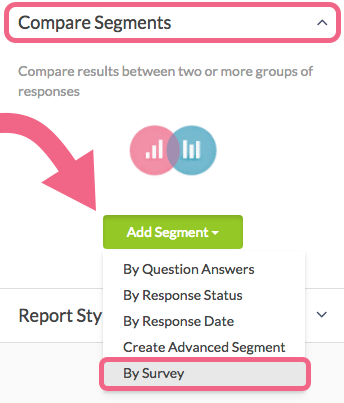 Segment Your Report by Survey