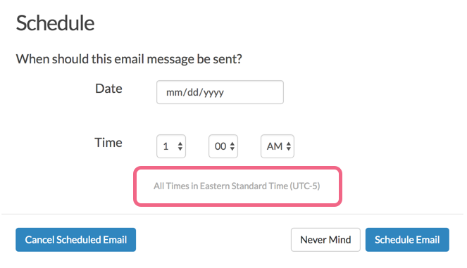 Email Campaign Scheduling Note