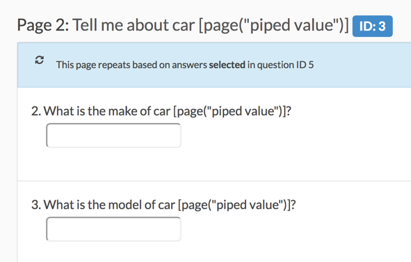 Page Piped Value Merge Code