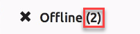 SentryOne Cloud Offline indicator