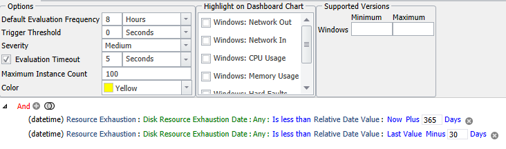 Windows Volume Exhaustion Date Changed