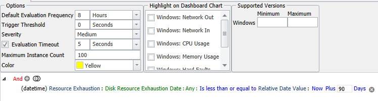 Windows Volume Forecasted Exhaustion Within 90 Days