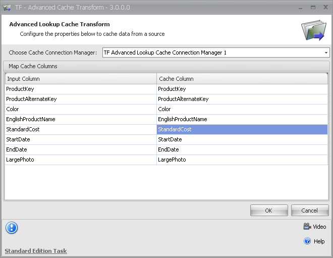 Task Factory Advanced Lookup Cache Transform