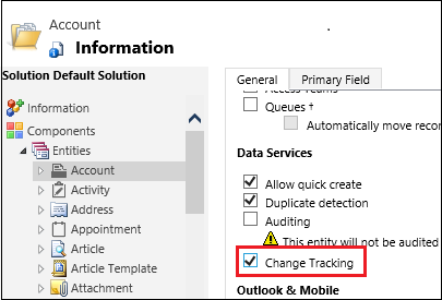 Task Factory Dynamics CRM Source Change Tracking
