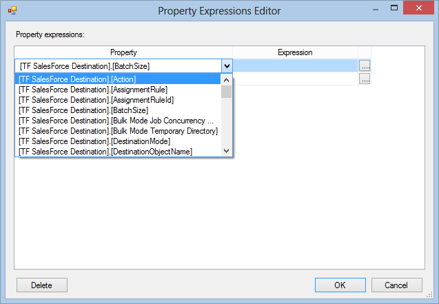 Task Factory Property Expressions Editor