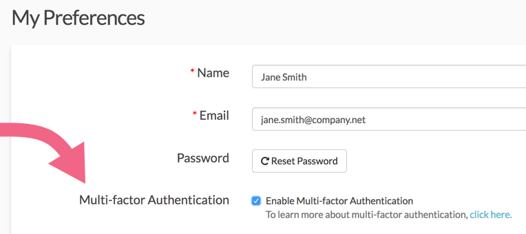 Enable Multi-factor Authentication for Your User Profile