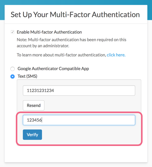 Verify Your SMS Multi-factor Authentication