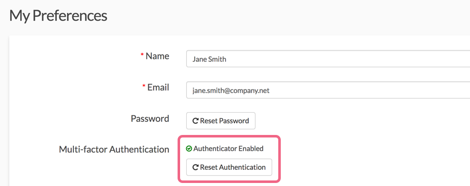 Reset Your Multi-factor Authentication