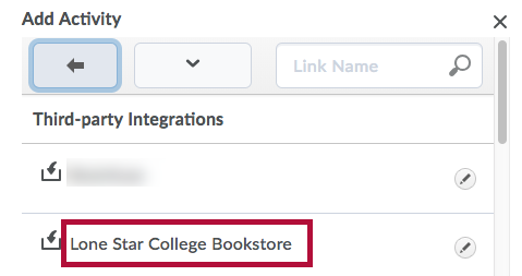 Identifies Lone Star College Bookstore