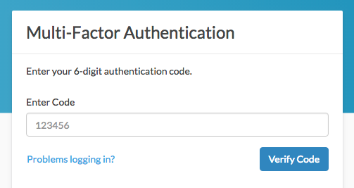 Login Via Multi-factor Authentication (MFA)