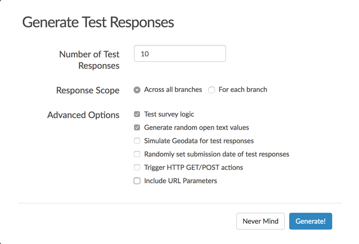 Generate Test Responses