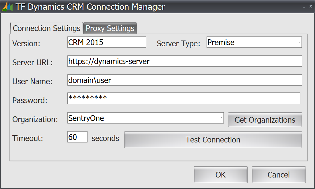Task Factory Dynamics CRM Connection Manager