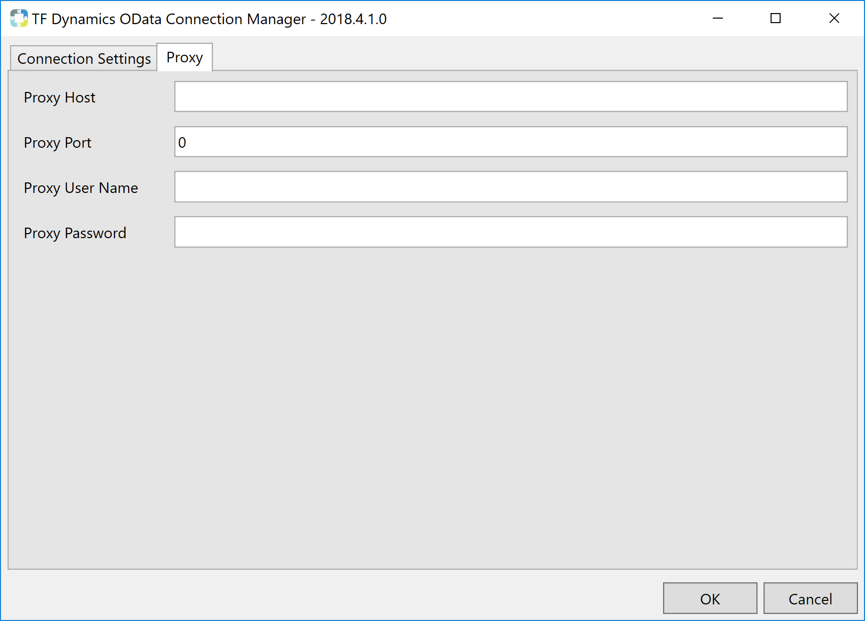 Task Factory Dynamics OData Connection Manager Proxy